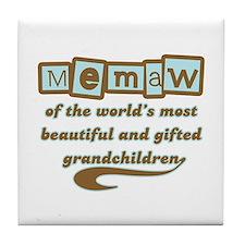Memaw of Gifted Grandchildren Tile Coaster