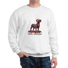 Poinsettia Chocolate Lab Sweatshirt