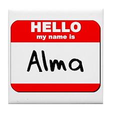 Hello my name is Alma Tile Coaster