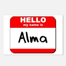 Hello my name is Alma Postcards (Package of 8)