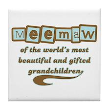 Meemaw of Gifted Grandchildren Tile Coaster