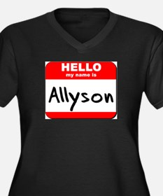 Hello my name is Allyson Women's Plus Size V-Neck