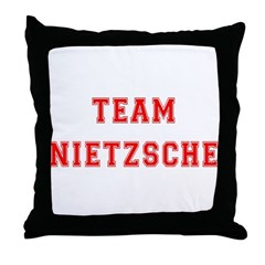 Team Nietzsche Throw Pillow