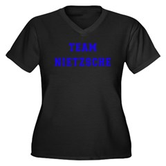 Team Nietzsche Women's Plus Size V-Neck Dark T-Shi