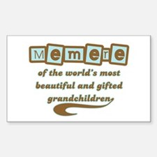 Memere of Gifted Grandchildren Rectangle Decal