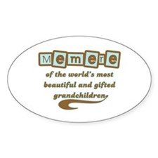 Memere of Gifted Grandchildren Oval Bumper Stickers