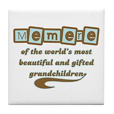 Memere of Gifted Grandchildren Tile Coaster