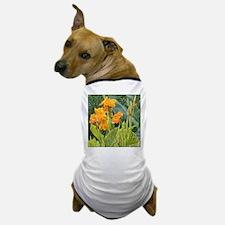Orange Canna Flowers Dog T-Shirt