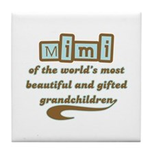 Mimi of Gifted Grandchildren Tile Coaster