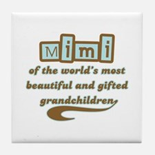 Mimi of Gifted Grandchildren Tile Coaster