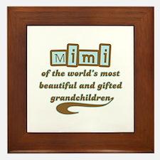 Mimi of Gifted Grandchildren Framed Tile