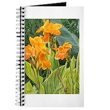 Orange Canna Flowers Journal