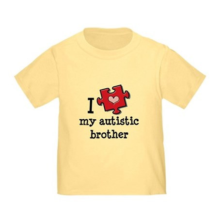 I Love My Autistic Brother Toddler T-Shirt