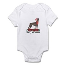 Poinsettia Doberman Pinscher Infant Bodysuit