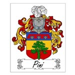 Pini Family Crest Small Poster