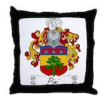 Pini Family Crest Throw Pillow