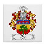 Pini Family Crest Tile Coaster