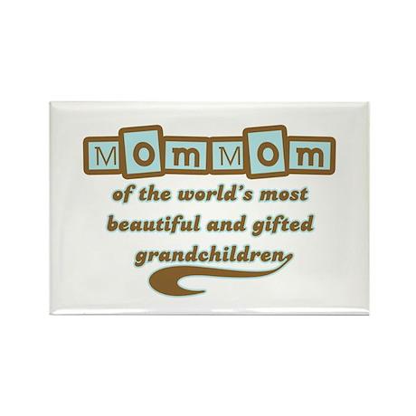 MomMom of Gifted Grandchildren Rectangle Magnet