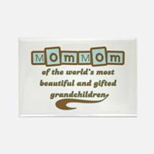 MomMom of Gifted Grandchildren Rectangle Magnet