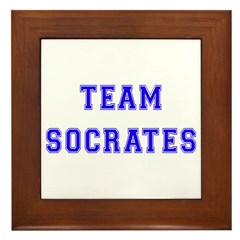 Team Socrates Framed Tile