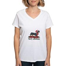 Poinsettia Dachshund Shirt