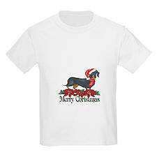 Poinsettia Dachshund T-Shirt