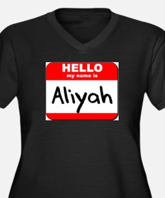 Hello my name is Aliyah Women's Plus Size V-Neck D