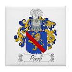 Pinoli Family Crest Tile Coaster