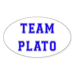 Team Plato Oval Decal