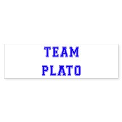 Team Plato Bumper Bumper Sticker
