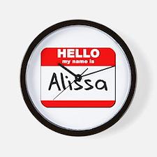 Hello my name is Alissa Wall Clock