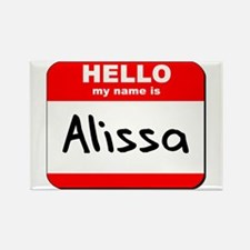 Hello my name is Alissa Rectangle Magnet