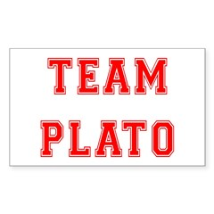 Team Plato Rectangle Decal