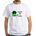 TOADILY LIKE A PIRATE White T-Shirt