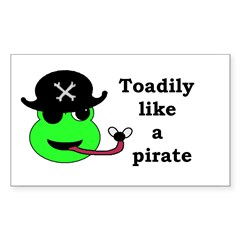 TOADILY LIKE A PIRATE Rectangle Sticker 50 pk)