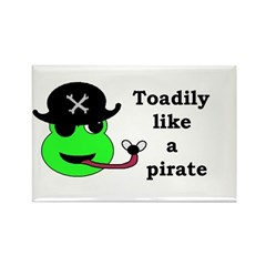 TOADILY LIKE A PIRATE Rectangle Magnet