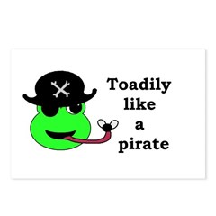 TOADILY LIKE A PIRATE Postcards (Package of 8)