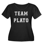Team Plato Women's Plus Size Scoop Neck Dark T-Shi