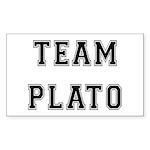 Team Plato Rectangle Sticker