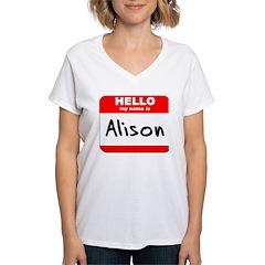 Hello my name is Alison Shirt
