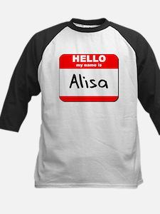 Hello my name is Alisa Kids Baseball Jersey