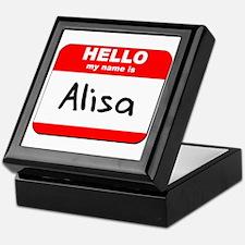 Hello my name is Alisa Keepsake Box