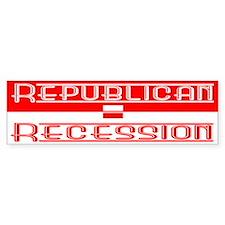 Recession Bumper Bumper Sticker