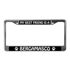 My Best Friend is a Bergamasco License Plate Frame