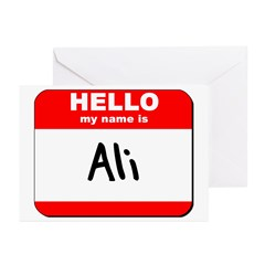 Hello my name is Ali Greeting Cards (Pk of 20)