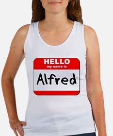 Hello my name is Alfred Women's Tank Top