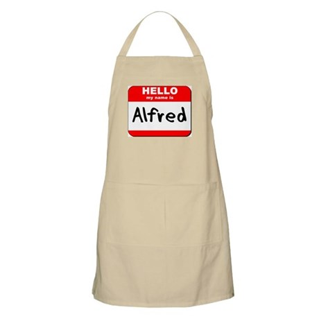 Hello my name is Alfred BBQ Apron