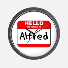 Hello my name is Alfred Wall Clock
