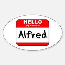 Hello my name is Alfred Oval Decal