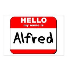 Hello my name is Alfred Postcards (Package of 8)